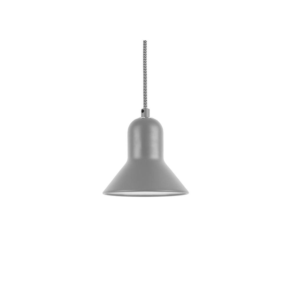 Szara lampa wisząca Leitmotiv Slender, wys. 14,5 cm