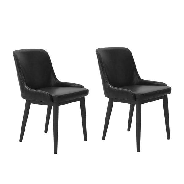 Zestaw 2 krzeseł Edgar, czarne