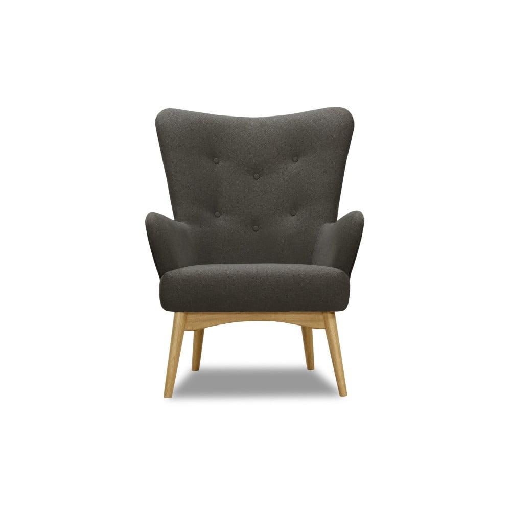 Antracytowy fotel Vivonita Uma