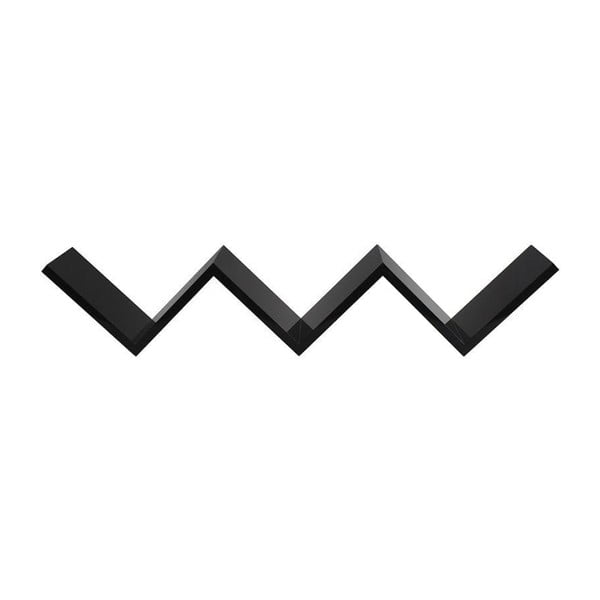 Półka ścienna W Black, 82x15x17 cm