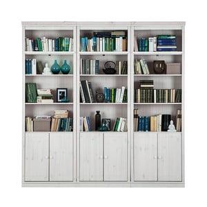 Biała biblioteczka z litego drewna sosnowego Støraa Annabelle, szerokość219cm