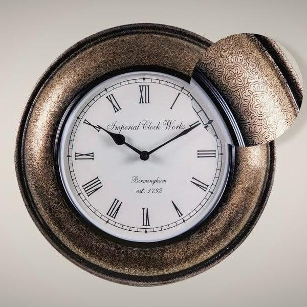 Zegar naścienny, wzór kwiatowy