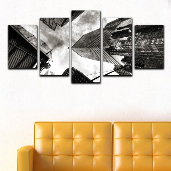 Wieloczęściowy obraz Black&White Skyscrapers, 100x50 cm