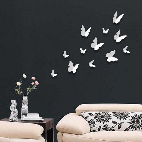 Naklejka Motyle 3D, jednokolorowe białe