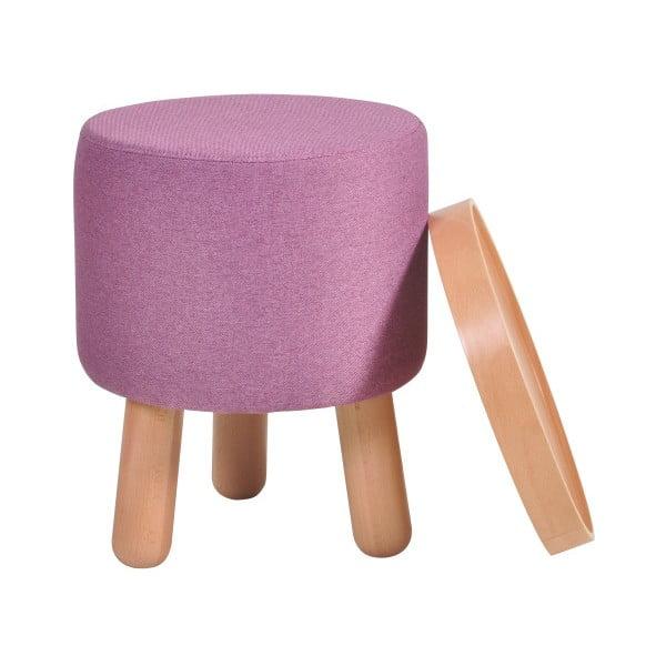 Fioletowy stołek ze zdejmowanym blatem Garageeight Molde, ⌀ 35 cm