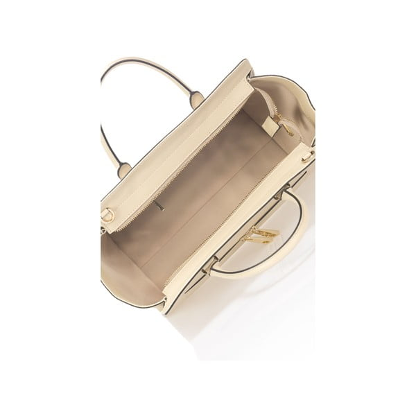 Beżowa torebka skórzana Krole Kristina