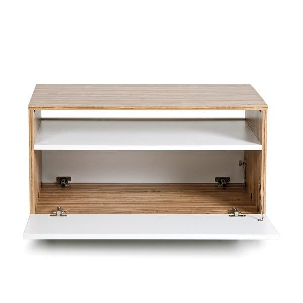 Stolik z półką Decoflex, biały/samba