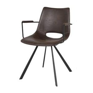 Ciemnobrązowe krzesło krzesło Canett Coronas