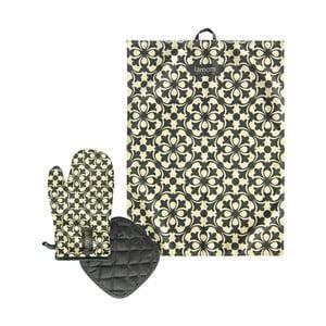 Zestaw Mosaic - ściereczka, rękawica kuchenna i podstawka pod garnek