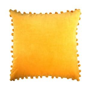 Żółta poduszka Ragged Rose Arabella Velvet