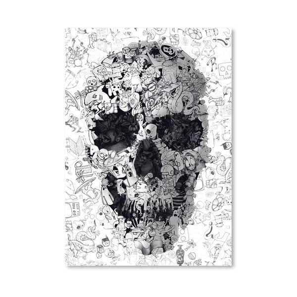 """Plakat autorski """"Doodle Skull"""""""