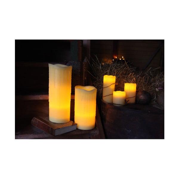Woskowa świeczka LED, 20 cm