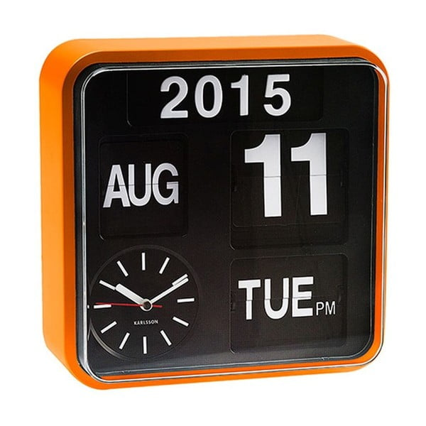 Zegar Present Time Mini Flip Black