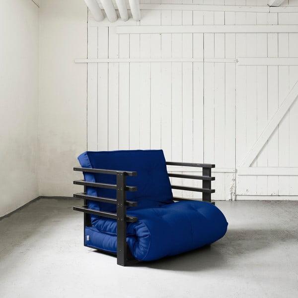 Fotel rozkładany Karup Funk Black/Royal