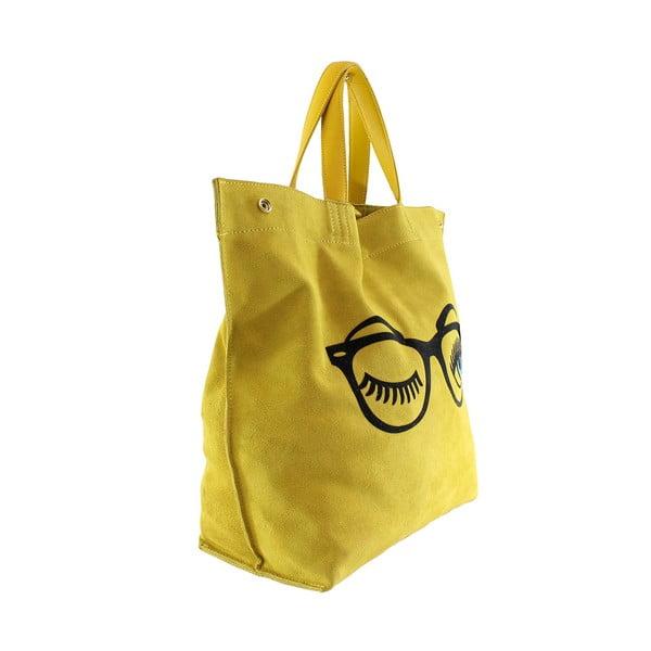 Skórzana torebka Wink, żółta