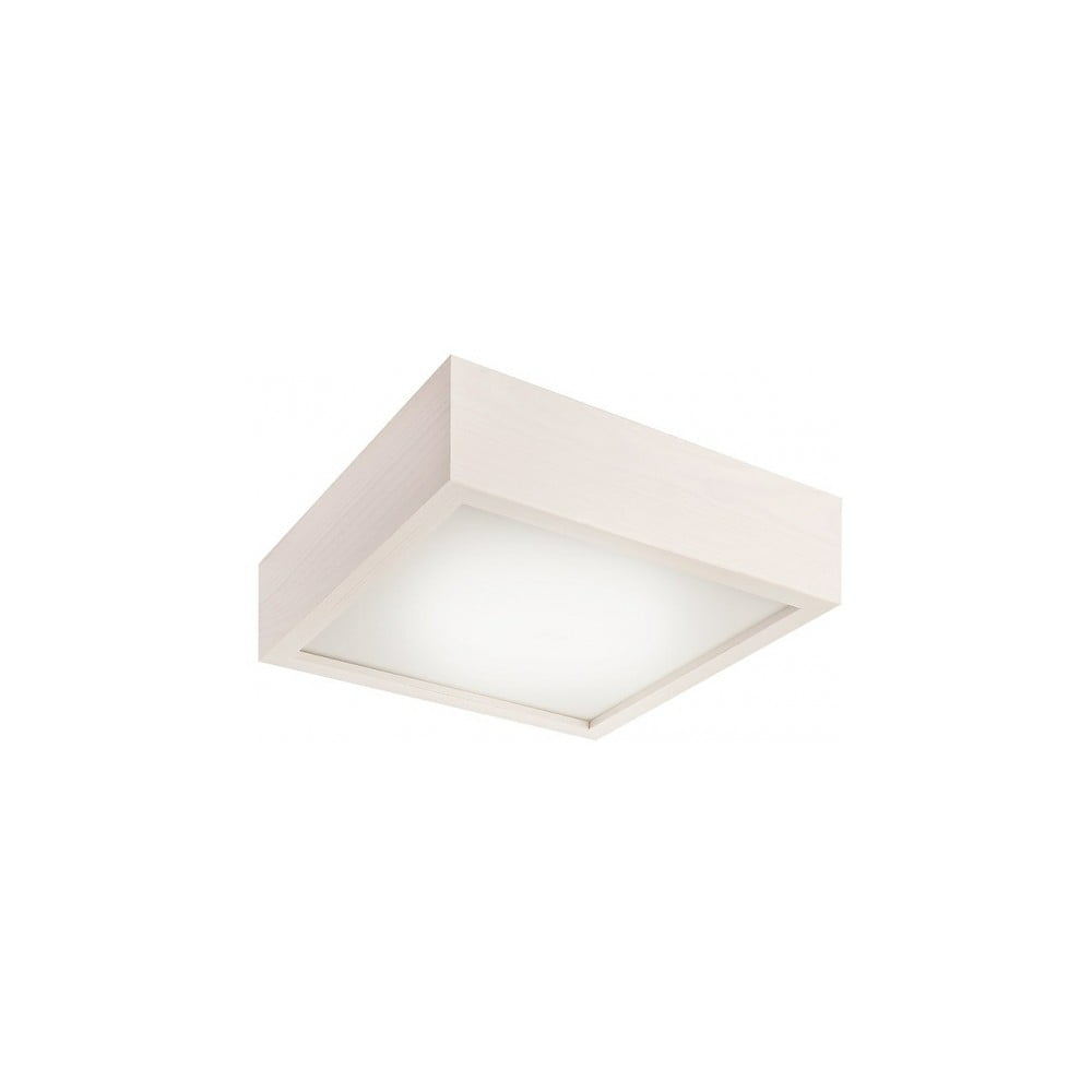 Biała kwadratowa lampa sufitowa Lamkur Plafond, 27,5x27,5 cm