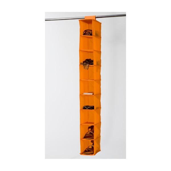 Pomarańczowy organizer materiałowy z 9 przegródkami Compactor