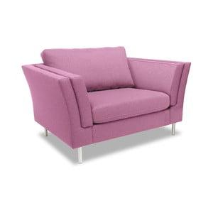 Różowy fotel VIVONITA Connor