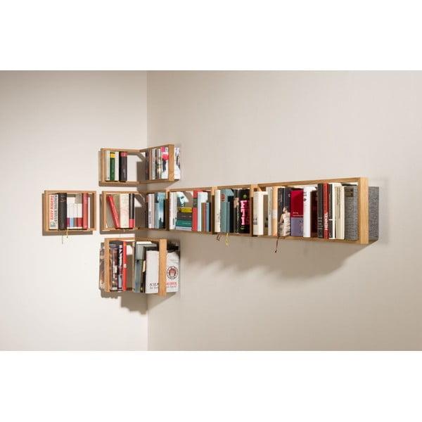 Półka na książki z drewna dębowego das kleine b b3, 22x69 cm