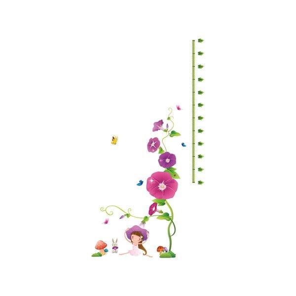 Naklejka z miarką wzrostu Fanastick Purple Flowers and Mushroom