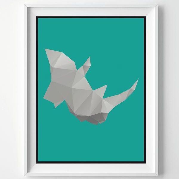 Plakat Rhino, A3