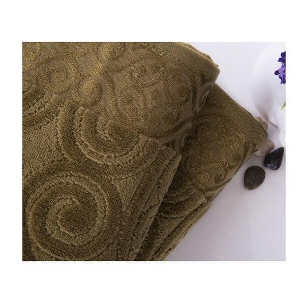 Zestaw 2 ręczników Hanzade Green, 50x90 cm