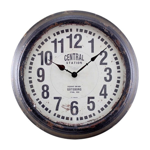 Zegar ścienny Centrastation Black