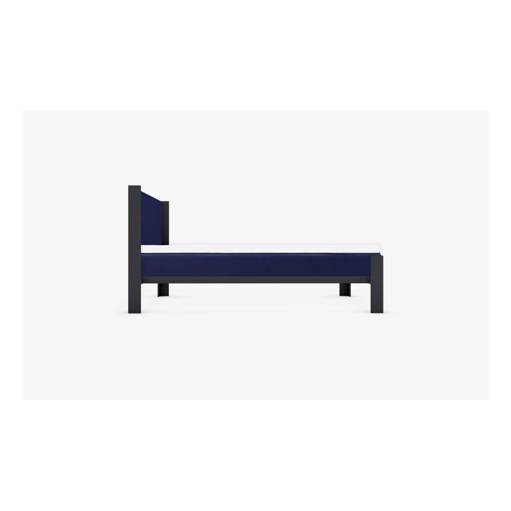 Niebieska Rama łóżka Muun 200x200 Cm Bonami