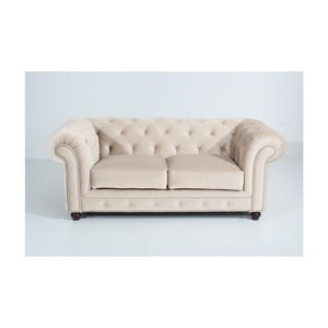 Kremowa sofa dwuosobowa Max Winzer Orleans Velvet