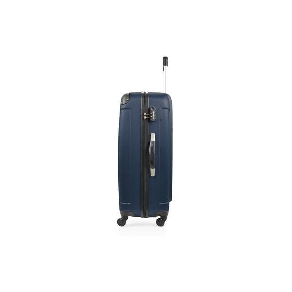 Niebieska walizka na kółkach Bluestar,46l