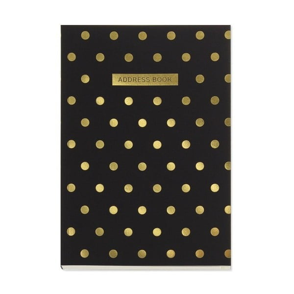 Książka adresowa Go Stationery Midi Polka Black