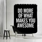 Zasłona prysznicowa What Makes You Awesome, 180x180 cm
