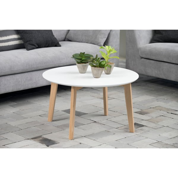 Stolik Molina ⌀ 50 cm, biały