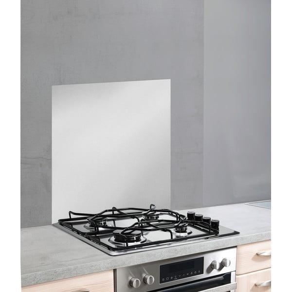 Szklana płyta ochronna na ścianę przy kuchence w srebrnej barwie Wenko, 70x60cm