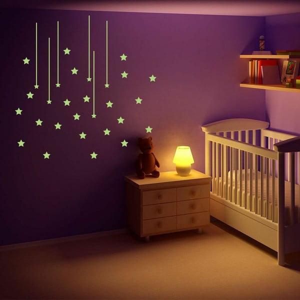 Naklejka świecąca w ciemności Ambiance Cloud of Stars, 10x55 cm