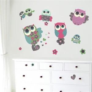 Naklejka wielokrotnego użytku Owls M