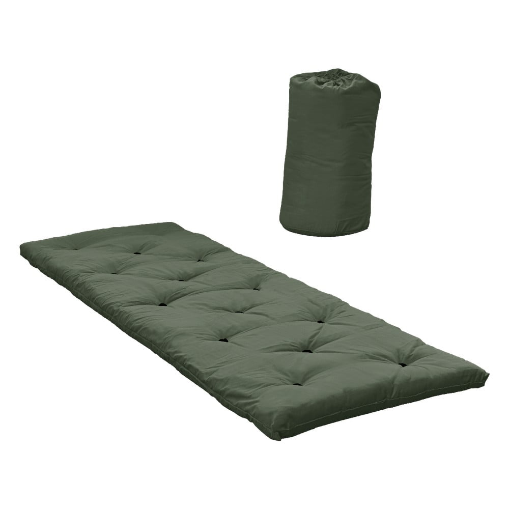 Oliwkowy materac dla gości Karup Design Bed In A Bag Olive Green