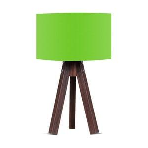 Lampa stołowa z zielonym abażurem Kate Louise Kahve