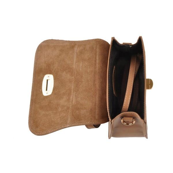 Skórzana torebka Flaux, beżowa