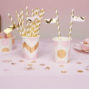 Zestaw 30 różowych karteczek ozdobnych na słomki Neviti Pattern Works Zig