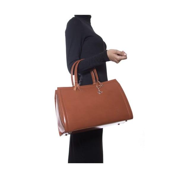 Skórzana torebka Luisa Vannini 3009 Cognac