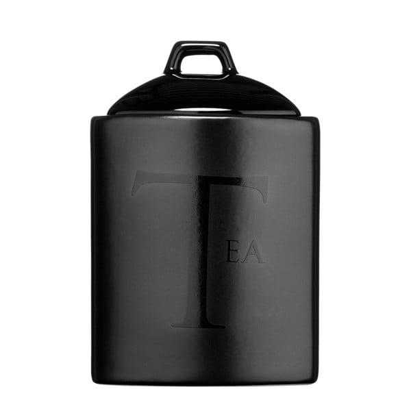 Czarny pojemnik na herbatę Premier Housewares