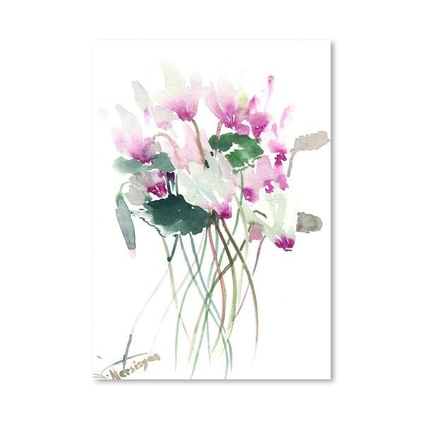 Plakat White Pink Flowers (projekt Suren Nersisyan)