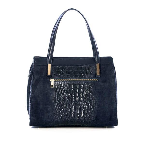 Skórzana torebka Croco Blue