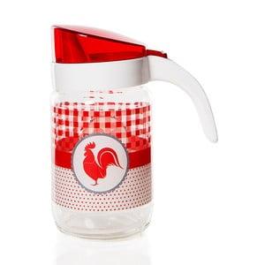 Butelka na olej z czerwonym wzorem Herevin, 660 ml