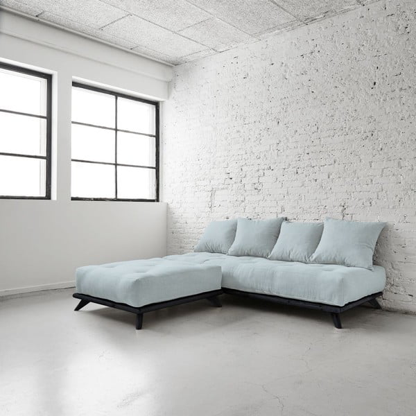 Sofa Senza Black/Sky Blue