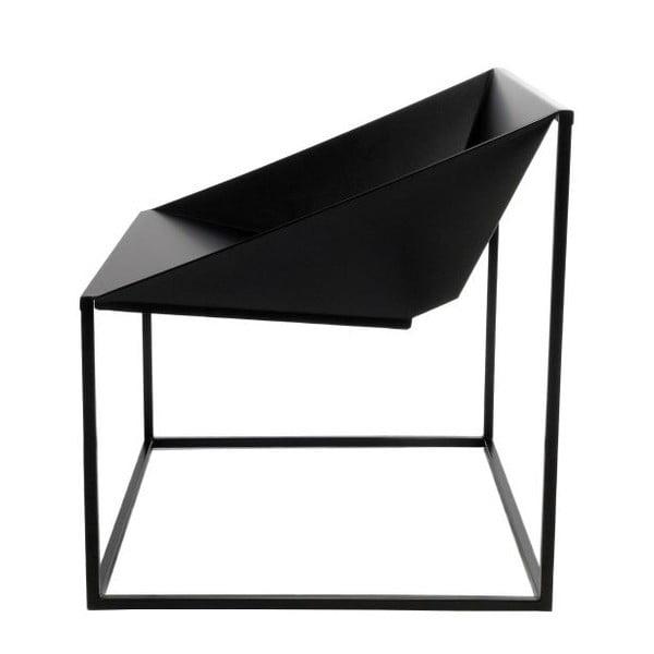 Czarne krzesło nadające się na zewnątrz TemaHome Tavares