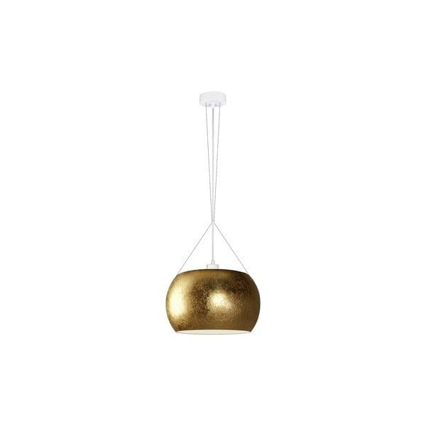 Złota lampa wisząca z białym kablem Sotto Luce MOMO