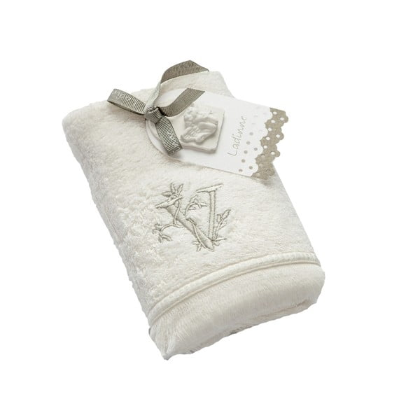 Ręcznik z inicjałem V, 30x50 cm