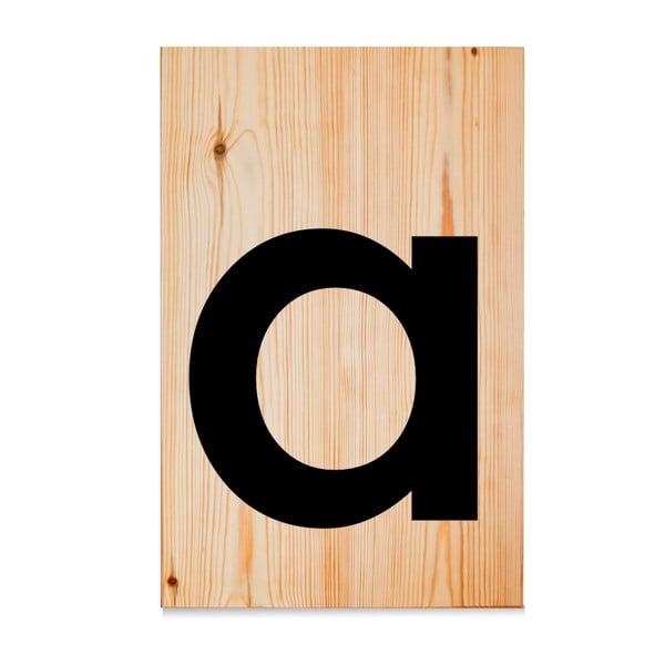 Drewniana tabliczka Letters A